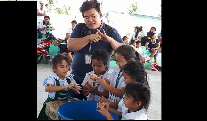 Proper Handwashing and Germicidal Soap Distribution to Kinder students of Bagong Buhay G Elementary School